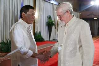 Photo image of Mr. President Rodrigo Duterte and Mr. Peter Wallace