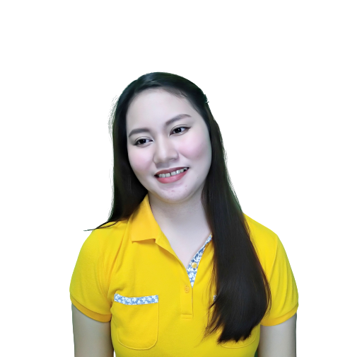 Ms. Mary Grace wearing a yellow polo shirt