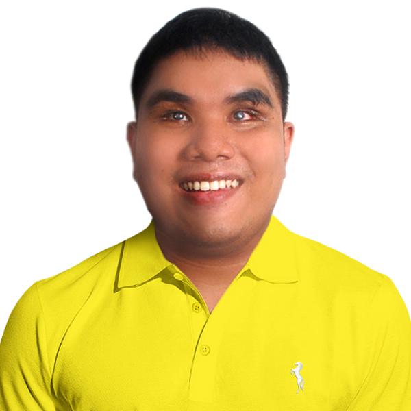 Sir Aldren Joshua wearing a yellow polo shirt